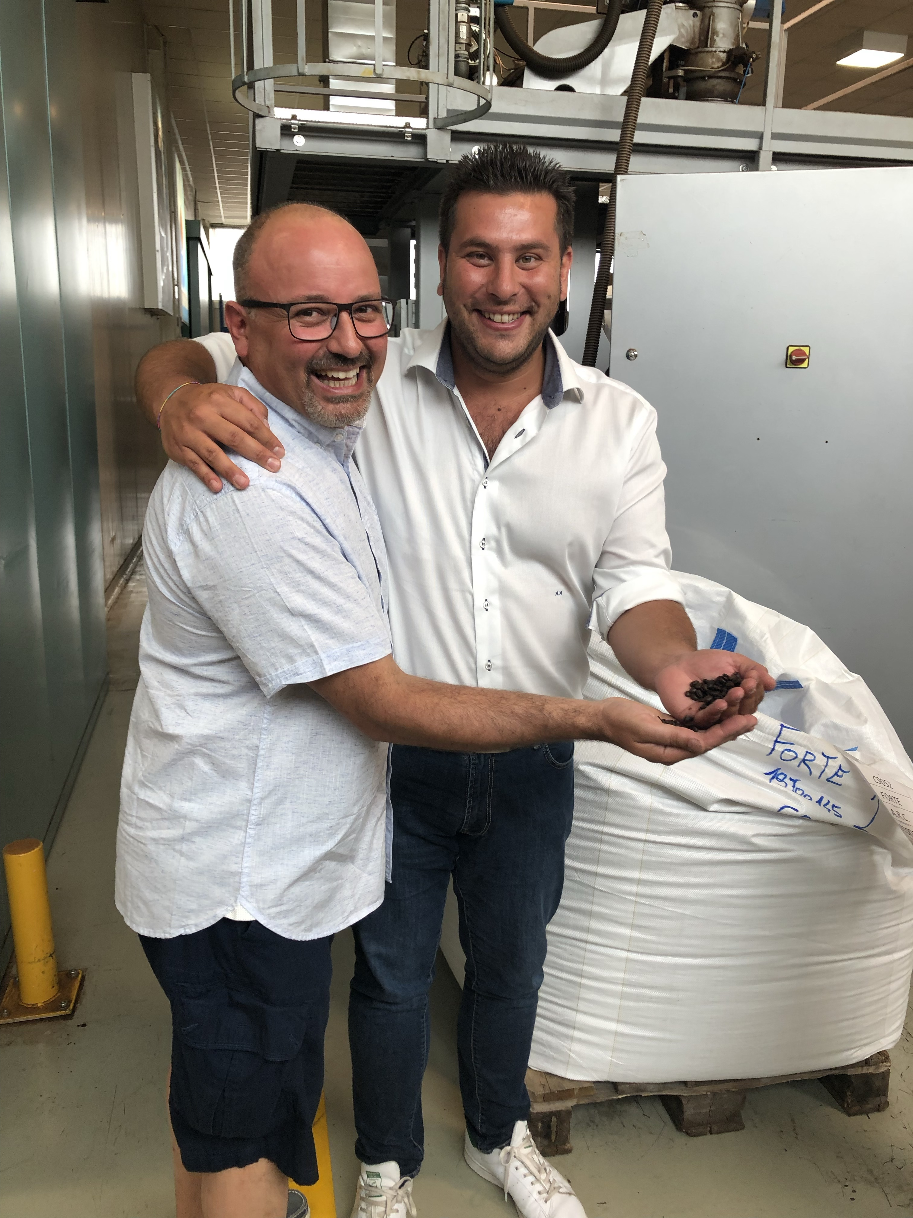 Vittorio & Michele at Barreggio factory in Italy